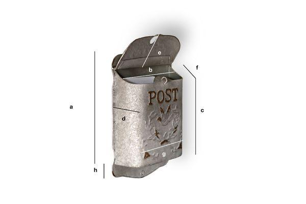 Dimensions du produit Boite à lettres Post