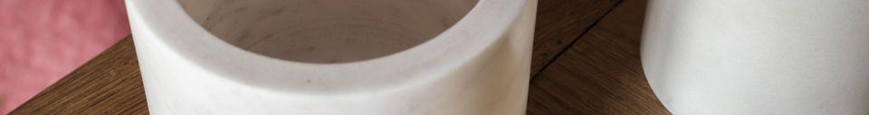 Mise en avant matière Boite en marbre blanc Wäg