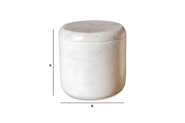 Dimensions du produit Boite en marbre blanc Wäg