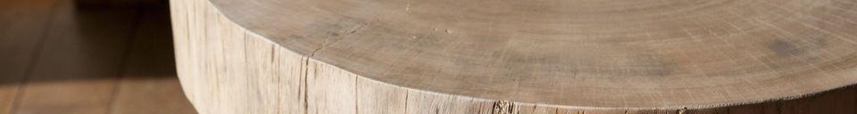 Mise en avant matière Bout de canapé tronc d'arbre Natural Luka