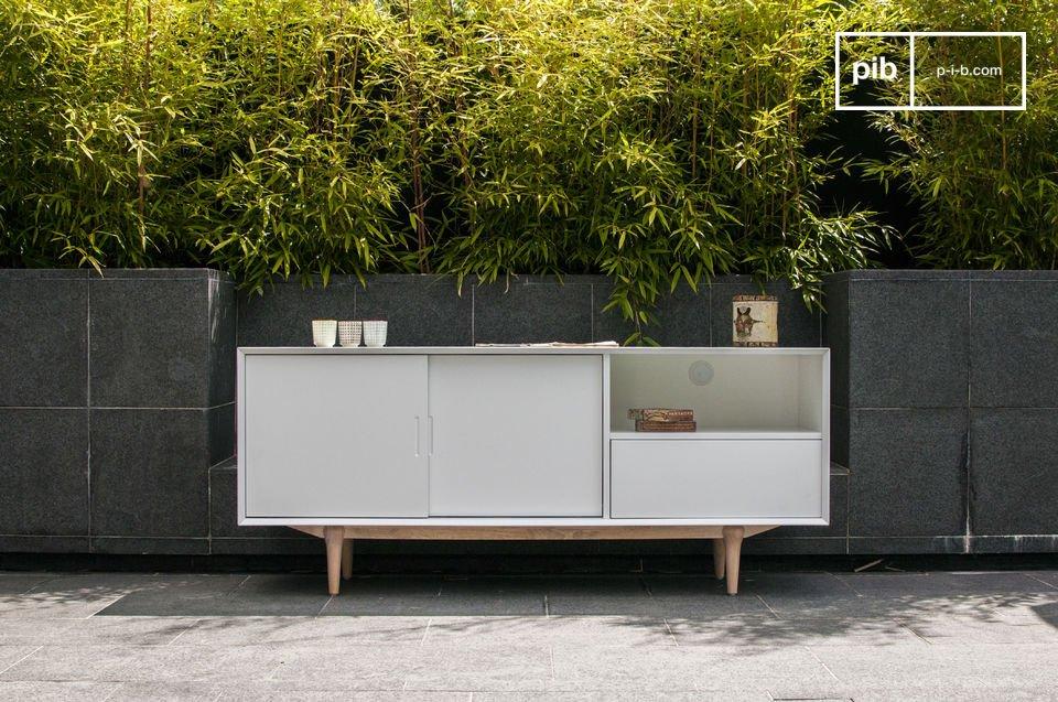 Buffet design, meuble de rangement bas de style rétro