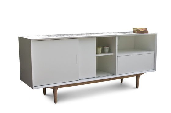 Buffet bas en bois fjord buffet design meuble de pib - Meuble buffet bas ...