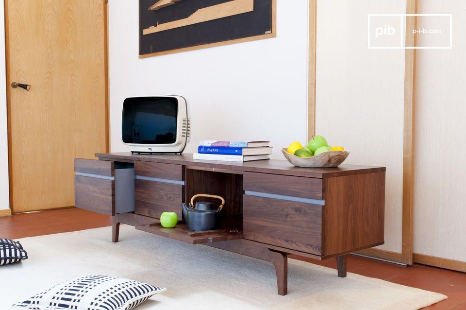 Rangement élégant pour accueillir la télévision ou la vaisselle