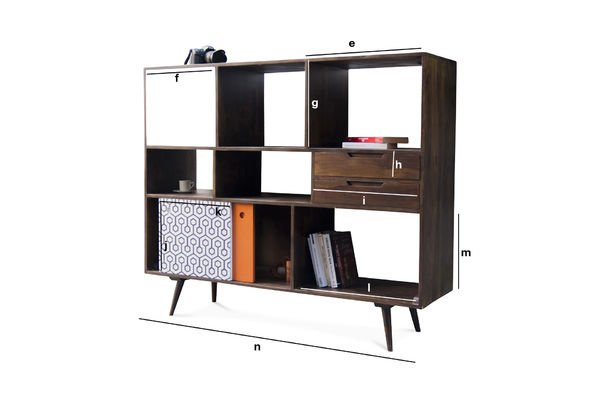 Dimensions du produit Buffet design haut Londress