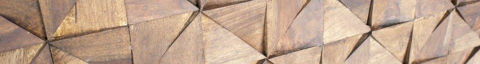 Mise en avant matière Buffet en bois Balkis