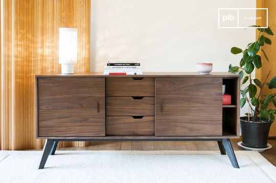 Buffet scandinave en noyer hinda