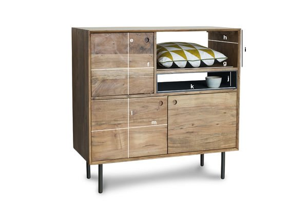 buffet haut en bois bascole esprit vintage pib. Black Bedroom Furniture Sets. Home Design Ideas
