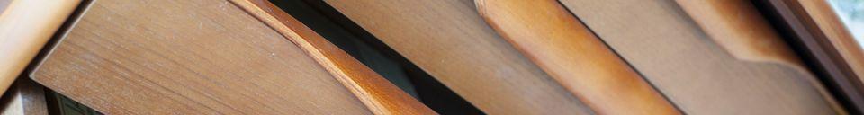 Mise en avant matière Buffet scandinave en bois Alrik