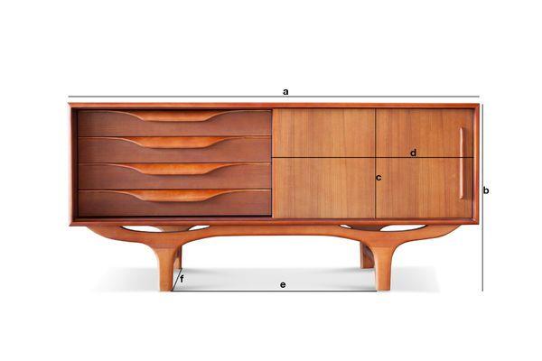 Dimensions du produit Buffet scandinave en bois Alrik