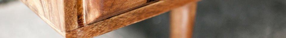 Mise en avant matière Buffet vintage en bois 1969