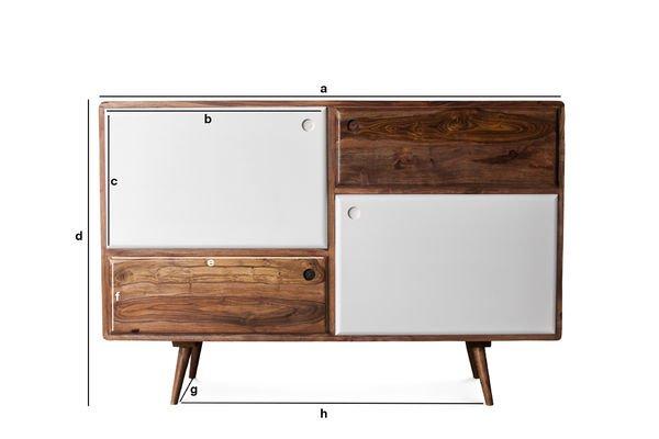 Dimensions du produit Buffet vintage en bois 1969