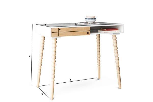 Dimensions du produit Bureau à tiroir Katalina