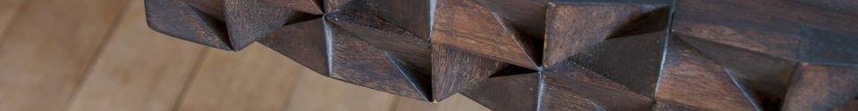 Mise en avant matière Bureau en bois Balkis