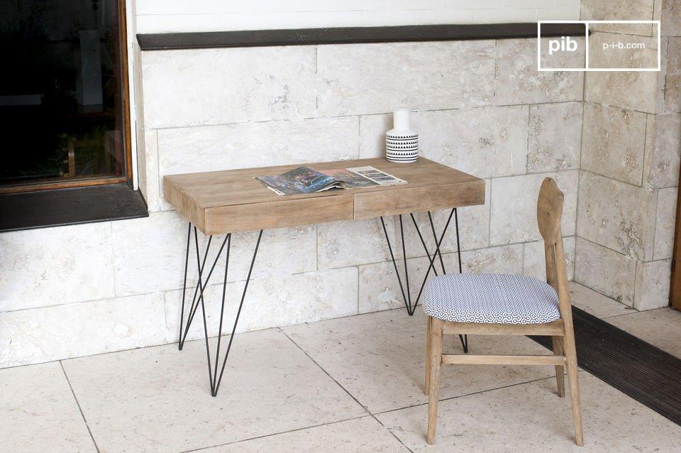 Bureau en bois zurich bois clair et esprit rétro pib luxembourg