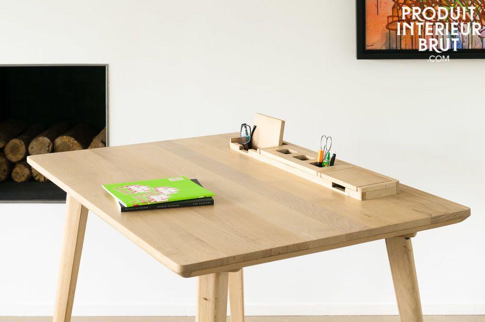 Bureau möka hêtre ligne élégante et bois clair pib