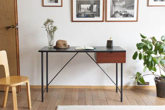 Bureau design noir kater hinn