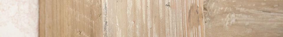 Mise en avant matière Cadre de cheminée en bois ancien