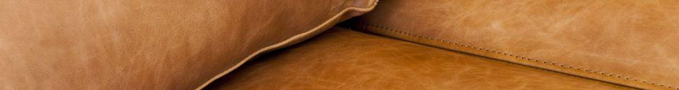 Mise en avant matière Canapé 3 places Almond marron