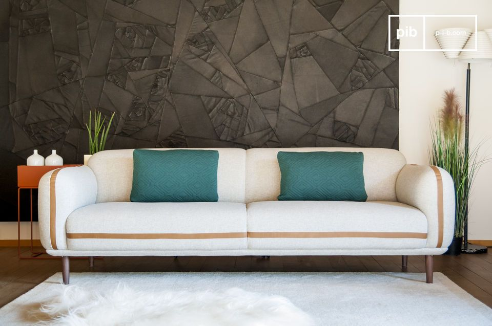 canap 3 places britta grande taille et esprit r tro pib. Black Bedroom Furniture Sets. Home Design Ideas