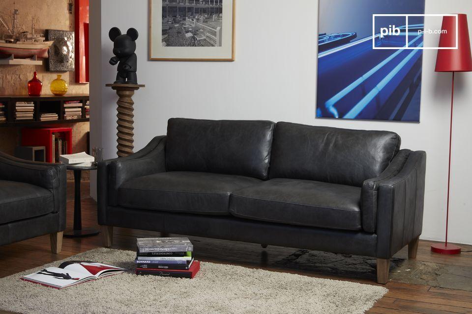 Cuir de qualité, confort exceptionnel, pour un canapé facile à intégrer