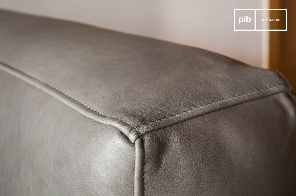 Les sixties sont à l\'honneur avec ce canapé en cuir Almond