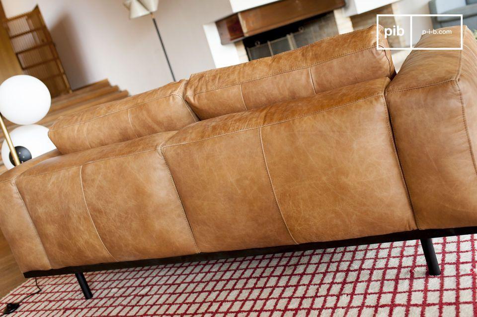 canap almond en cuir marron un canap d 39 inspiration pib. Black Bedroom Furniture Sets. Home Design Ideas