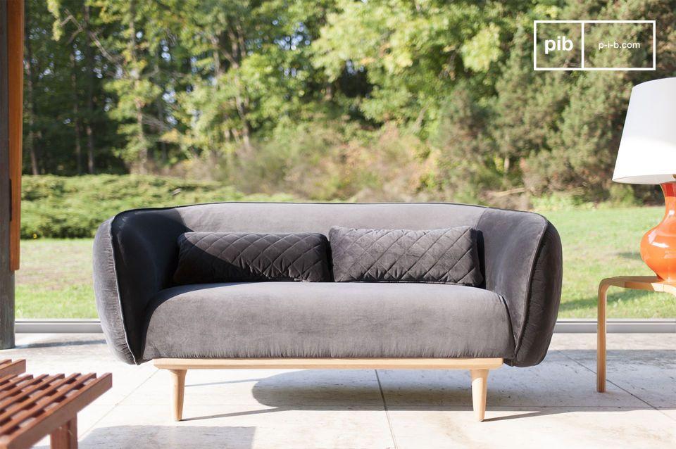 canap arrondi olson un dossier enveloppant pib. Black Bedroom Furniture Sets. Home Design Ideas