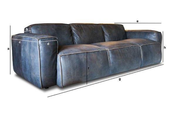 Dimensions du produit Canapé Atsullivan 3 places