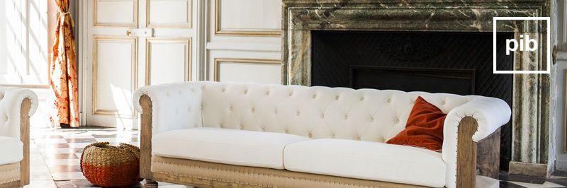 Canapé baroque style campagne bientôt de retour en collection