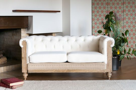 Canapé chesterfield Montaigu 2 places