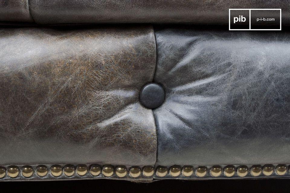 Le confort d'un canapé chesterfield, le look du cuir vintage