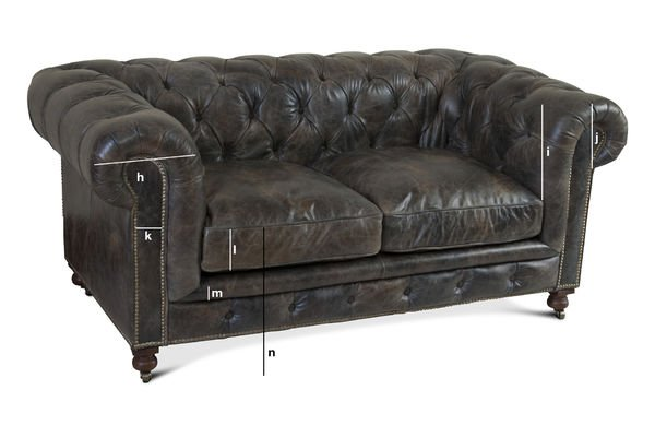 Dimensions du produit Canapé chesterfield Saint James