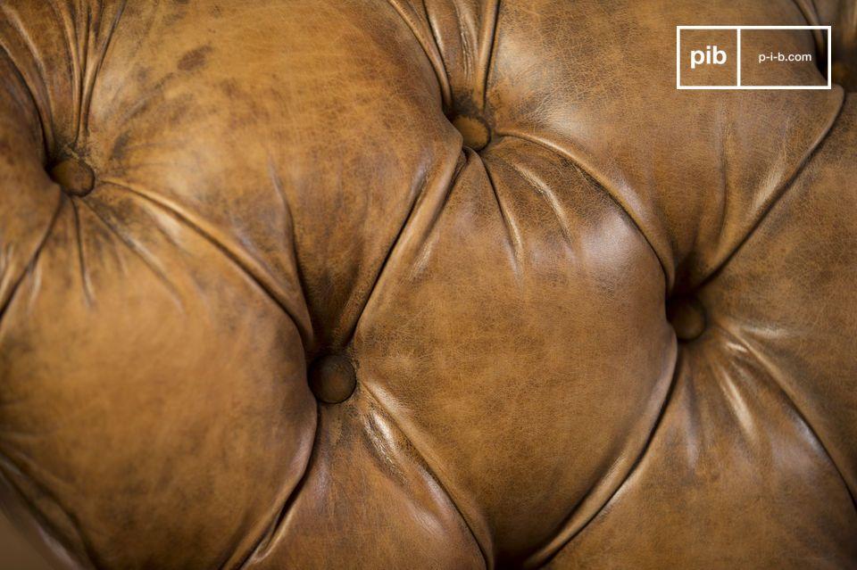 Un canapé en cuir vintage d'exception
