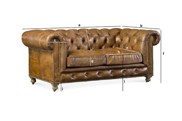 Dimensions du produit Canapé Chesterfield Saint Paul