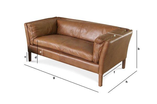 Dimensions du produit Canapé cuir Hamar