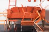 Canapé déhoussable Dakota Orange