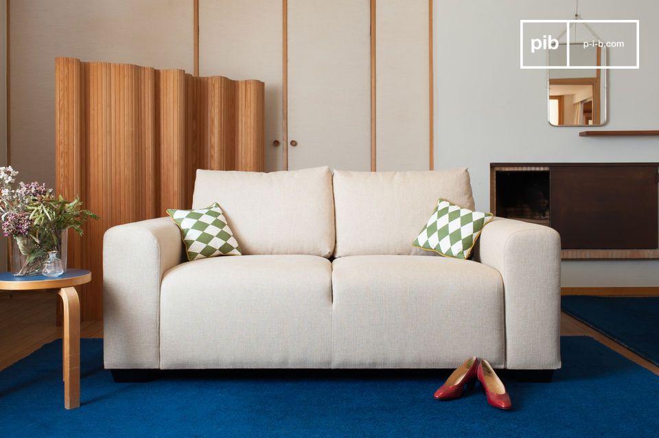 canap deux places kamelly lin clair fa on bauhaus pib. Black Bedroom Furniture Sets. Home Design Ideas
