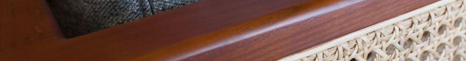 Mise en avant matière Canapé en bois et cannage Starheim