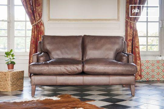 Canapé en cuir Sanary