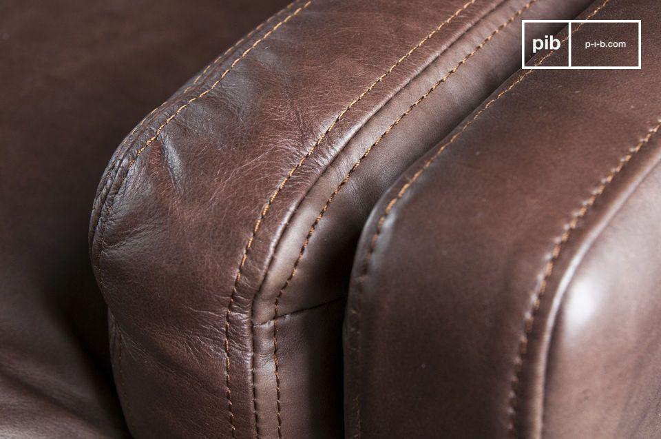 Vous apprécierez la qualité de fabrication du Canapé cuir Sanary