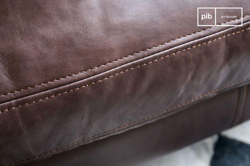 Canapé en cuir Sanary - 7