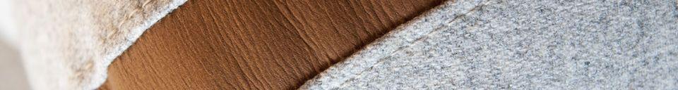 Mise en avant matière Canapé en laine Britta