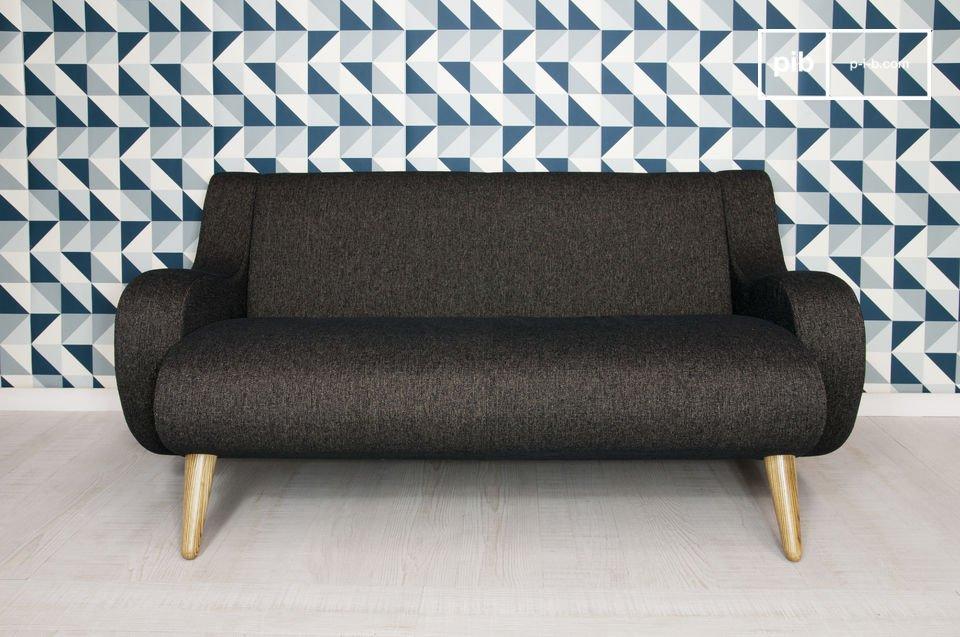 Optez pour un canapé vintage qui a du style, avec des courbes soignées particulièrement agréables à l\'oeil !  Existe aussi en gris