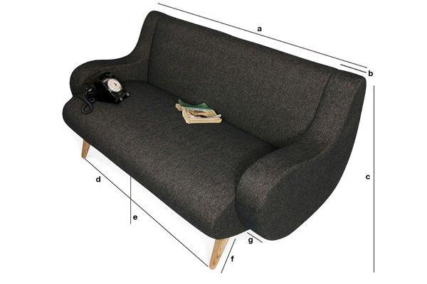 Dimensions du produit Canapé Genève 2 places