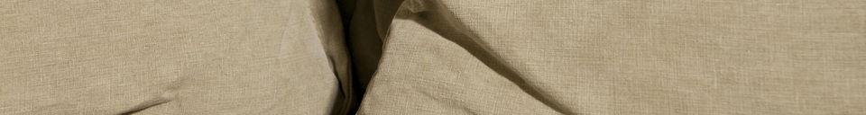 Mise en avant matière Canapé Mélodie beige