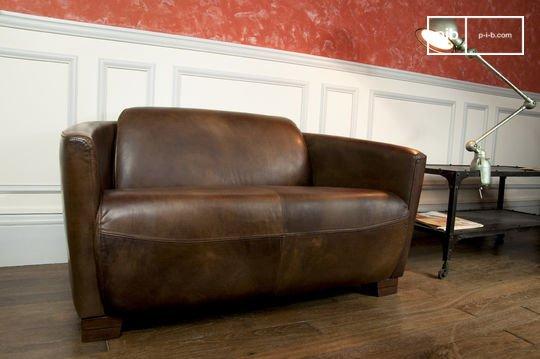 Canapé Club Style Industriel Pib - Canapé design industriel