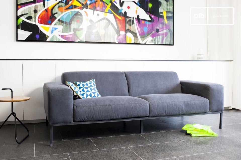 Canapé design dans l'esprit scandinave en tissu