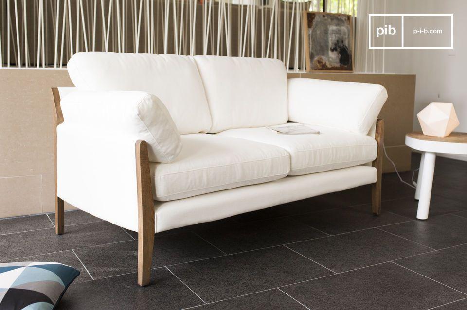 canap vintage ariston blanc canap au design scandinave pib. Black Bedroom Furniture Sets. Home Design Ideas