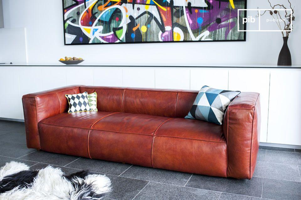 L\'esthétique unique de ce canapé vintage design est issue d\'une part de son aspect graphique