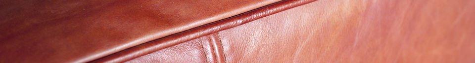 Mise en avant matière Canapé vintage Krieger 3 places